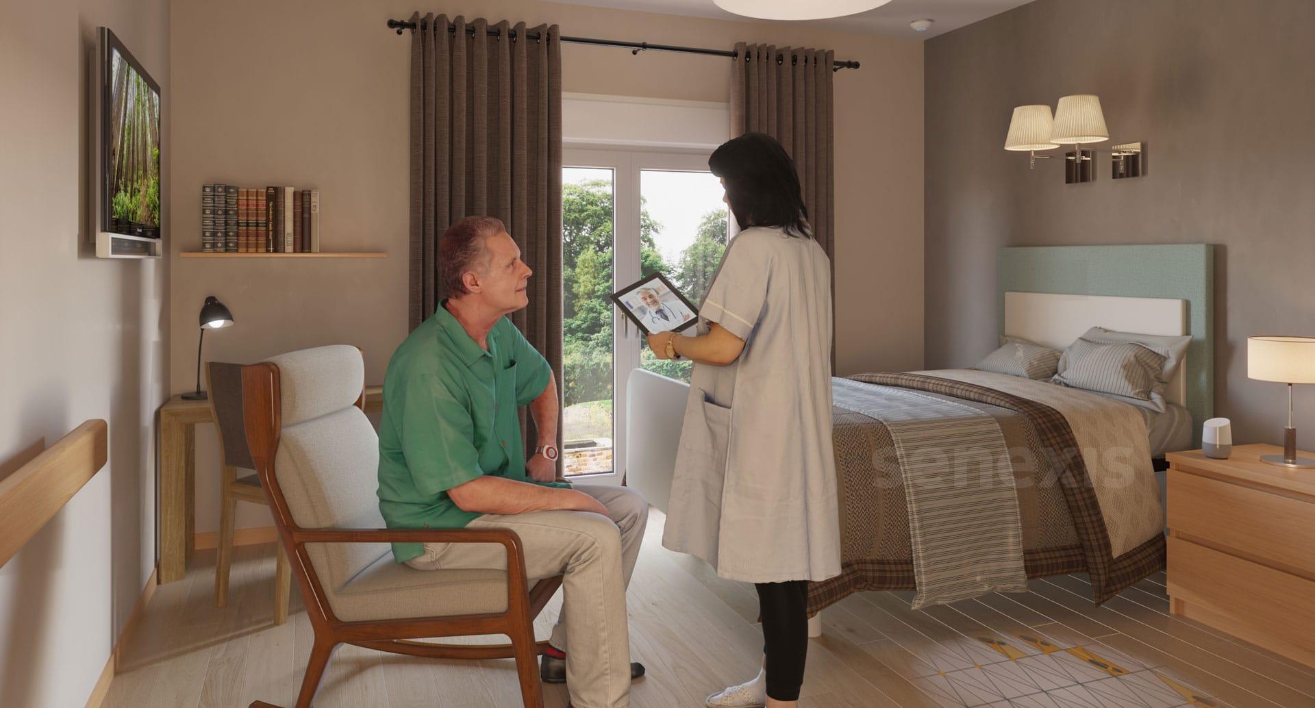 3D Visualisierung modernes Pflegeheim